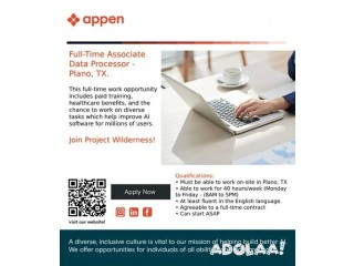 Full-Time Employee   Web Answers Project   English Speakers – Plano, Texas