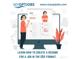 Learn how to create a resume for a job in the USA format.