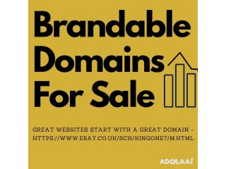 Brandable domain names now available for sale