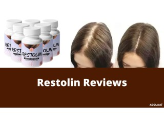 Restolin - The Supplement Support Hair Growth!
