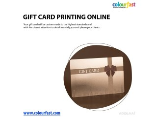 Gift Card Printing Online