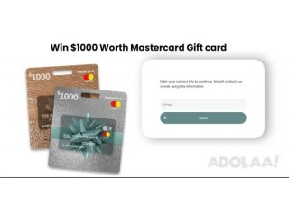 Get $1000 Mastercard Gift Card to Spend!