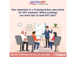 Our training and placement services will help you in landing an OPT job