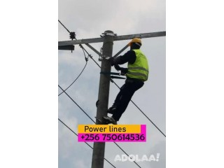 Affordable power line construction service in Uganda +256750614536